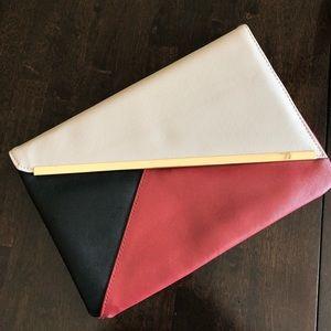 Asos color block clutch
